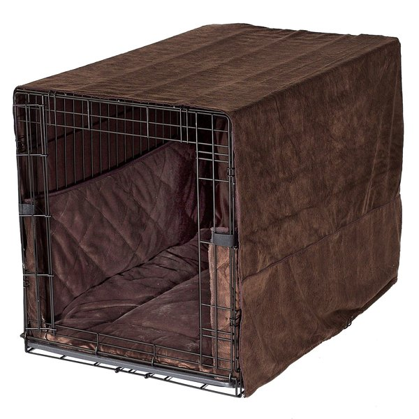 plush dog crate bedding | crate bed, covers & bumpers