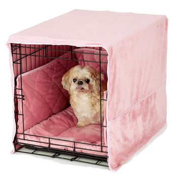 pink dog crate bedding